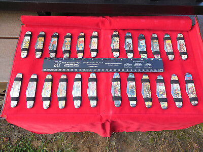 Lot Of 24 Vintage Novelty Pocket Knife Company USA Western Lone Ranger Wild Bill