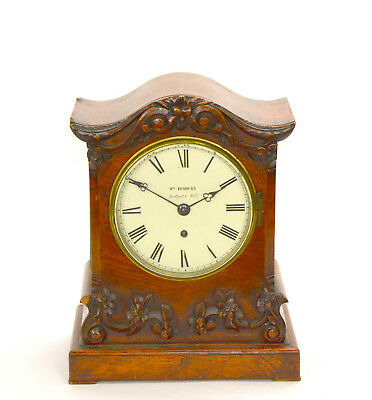 Antique English Wm Pembury of Ludgate Hill Fusee Chain Walnut Case Bracket Clock