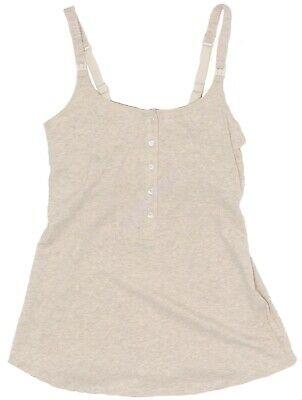 New Women's Black Gray Button Nursing Tank Top Gilligan O'Malley NWT Size S M L