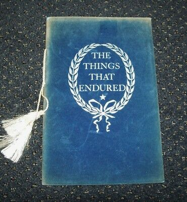 Rare 1961 Civil War Centennial Illustrated Booklet: The Things That Endured