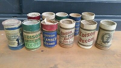 Collectable Empty Edison Phonograph Amberol Containers