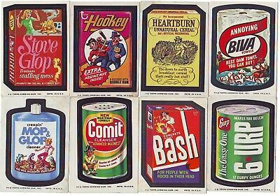 1973-77 Topps Original Wacky Packages 13 Different Stickers With Stove Glop