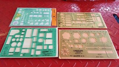 Drafting Templates Lot Of 4, Architecture