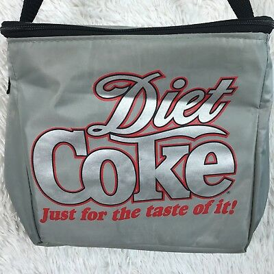"""Diet Coke Insulated Zippered Lunch Bag 12 Can Cooler """"Just For the Taste of It"""""""