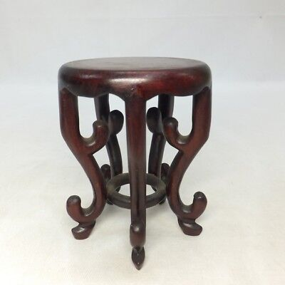 E970: Japanese decorative stand of KARAKI wood with good legs for small goods