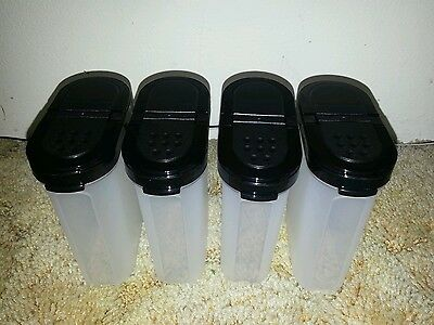 Tupperware - Modular Mates Large Spice Set x 4 Containers - Black New greystone'