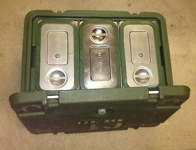 MILITARY CAMBRO FOOD STORAGE CONTAINER CARRIER POLAR Ware Stainless Steel