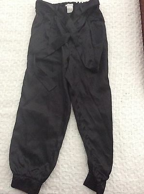 Almost New - Girls Black Silky Dress Pants Size 7