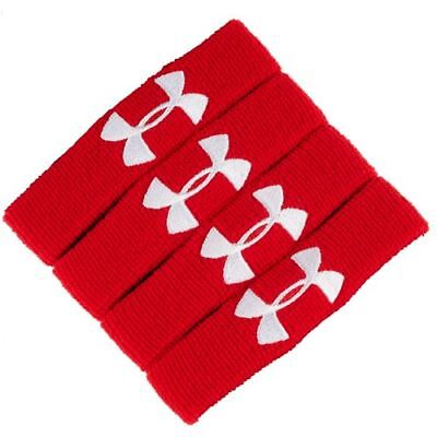 Under Armour Performance 4 Red Wristbands Sport Sweatband 1235106-600 Brand NEW