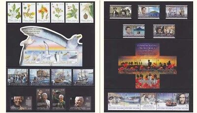 Pitcairn Islands 2014 Complete Year Commemorative Stamps Mnh