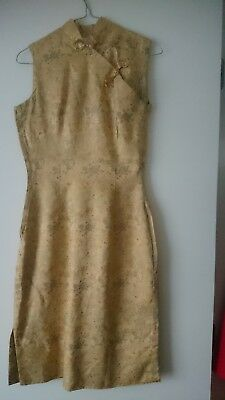 Vintage Hand made 1960's Chongsam dress-Fully Lined