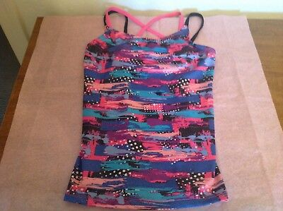Danskin Freestyle Girls Multicolored Glittered Tank Top. Size L 10/12. Excellent