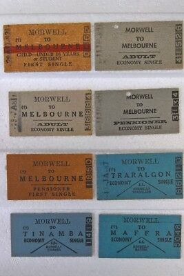 """8"" Vintage Victorian Railways Train Tickets Morwell Various! Excellent!! L@@k!!"