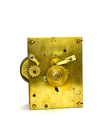 Antique English 8 Day Fusee Driven Brass Clock Movement