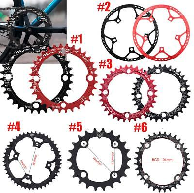Bike Narrow Wide Round Oval Chainring Ring BCD 104 130mm 22/32/34/36/38/44/53T