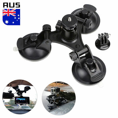GoPro Triple Suction Cup Mounts Glass Sucker Car Holder HD Hero 7 6 5 4 3 3+ 2 1