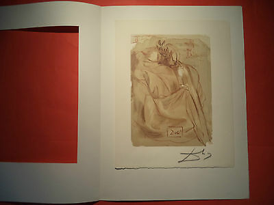 (224) Dali, Divine Comedy Rare German Hand Signed Litho (2) in nice condition