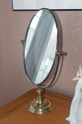 Old Brass Mirror Free Standing