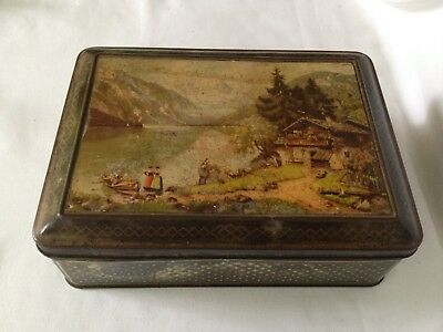 "VINTAGE - ADVERTISING BISCUIT TIN ""VE-TOY"" BISCUITS C. 1900/20's"