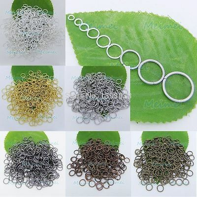 4mm-12mm Open Jump Split Findings Jewelry Making Craft Round Oval Rings-AW