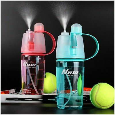 400/600ml Cycling Water Drink Bottle Mist Spray Portable Outdoor Sports Gym Cup