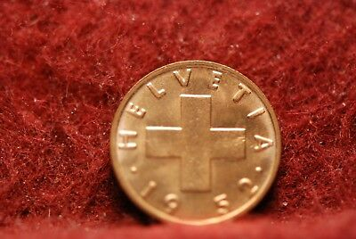Switzerland, 1952 Rappen, Red Brilliant Uncirculated, No Reserve,          mab33