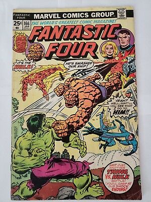Fantastic Four #166 VF- Hulk appearance Thomas & Perez