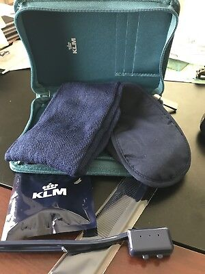 JANTAMINIAU - KLM Airlines AMENITY TRAVEL KIT 2018. NEW. Turquoise.