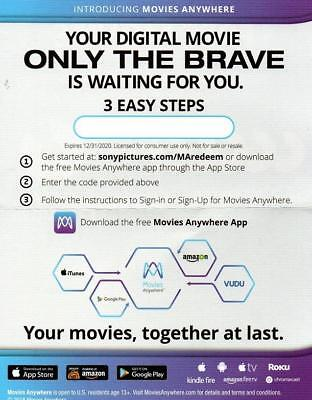 ONLY THE BRAVE (2017),Very Good DVD, Jake Picking, Geoff