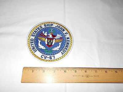 """Vintage USS John F. Kennedy (CV-67) 5"""" Patch for Flight Suit or Coveralls..."""