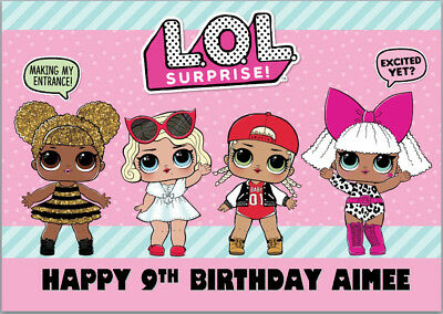 Lol Dolls Lil Sis Sister Surprise Birthday Card A5 Personalised Any Wording