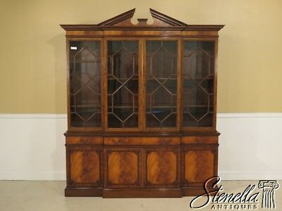 40608E:  Vintage Custom Crafted Georgian Mahogany Breakfront Bookcase