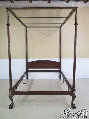 22184E: KITTINGER CW-139 Ball -N- Claw Foot Mahogany Full Size Poster Bed