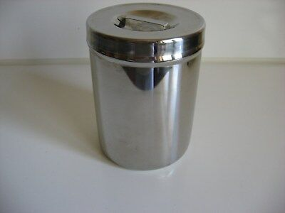 GRAFCO Stainless Steel Canister / Container/ Jar w/Lid, Medical Home Industrial
