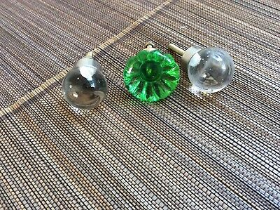 Glass cupboard knobs set of 3