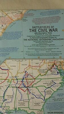 Vintage 1961 The National Geographic Battlefields of The Civil War mint