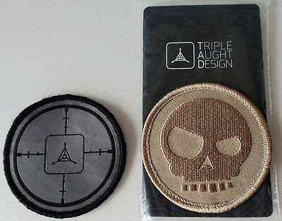 2 Triple Aught Design patches, Mean T skull patch - mint, and ?Shot Show? patch