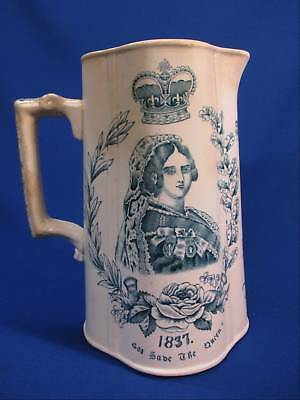 Queen Victoria Golden Jubilee Staffordshire Tall Pitcher