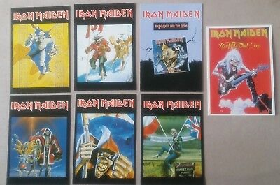7 cartes postale IRON MAIDEN postcards