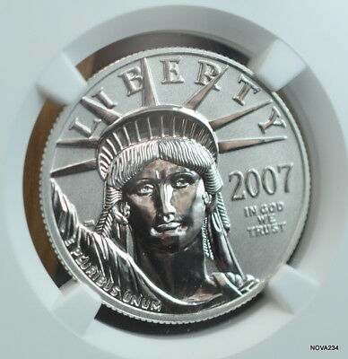 2007-W $50 Reverse Proof Platinum Eagle Ngc Pf-70