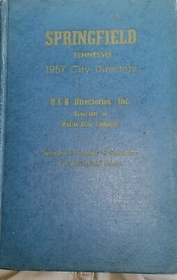 Springfield Robertson County Tennessee 1957 Phone Book