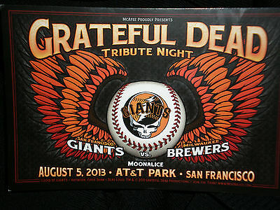 Gratetful Dead Postcard from the SF Giants' 4th Annual Grateful Dead Night 2013