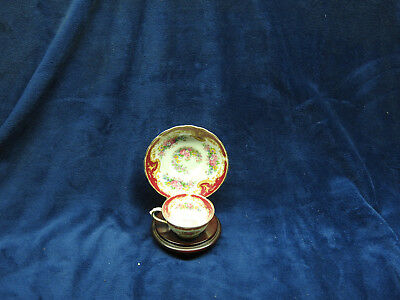 Tuscan Fine English Bone China Tea Cup and Saucer Set With Wood Stand Floral Des