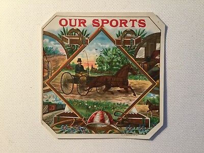 Our Sports Outer Cigar Box Label