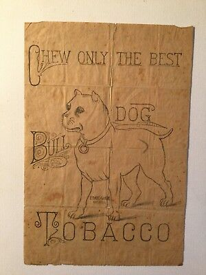 Bull Dog Tobacco Line Drawing Label