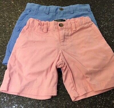 Ralph Lauren Polo 2 pairs of boys shorts age 3 Pink and Blue