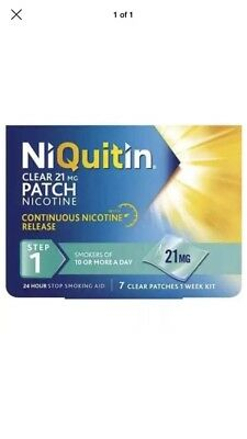 NIQUITIN CLEAR / 21mg Patches X 7  Step 1 3/2019
