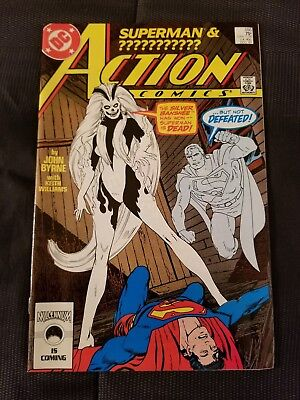 Dc Action Comics #595 1St Silver Banshee Appearance Great Condition Superman