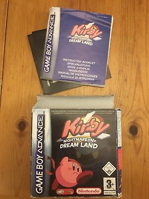 Kirby - Nightmare In Dream Land (gba)- Box And Manual Only