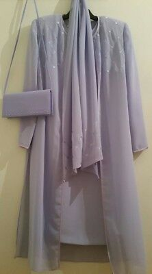 mother of the bride outfit size 12 lavender colour condici beautiful pristine